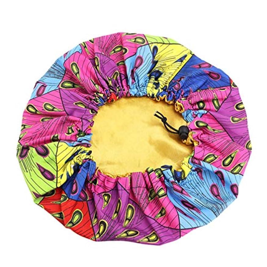 インチ教育者賞Frcolor 子供ナイトキャップサイズ調整二層印刷サテンシルクドームポータブル可愛い帽子枝毛つや髪 髪質改善保湿安眠就寝