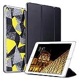 ULAK iPad 2017 iPad 9.7インチケース スリム軽量スマートケース 三つ折りスタンド 自動スリープ/ウェイク機能付き マイクロファイバー裏地 ハードバッククリアカバー Apple iPad 9.7インチ 第5世代用, マルチカラー