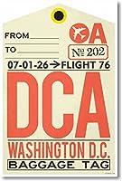 DCA–ワシントンDC–Airportタグ–新しい旅行ポスター