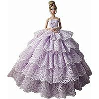 人形様々なハイエンドパーティーのウェディングドレスのスカートの服