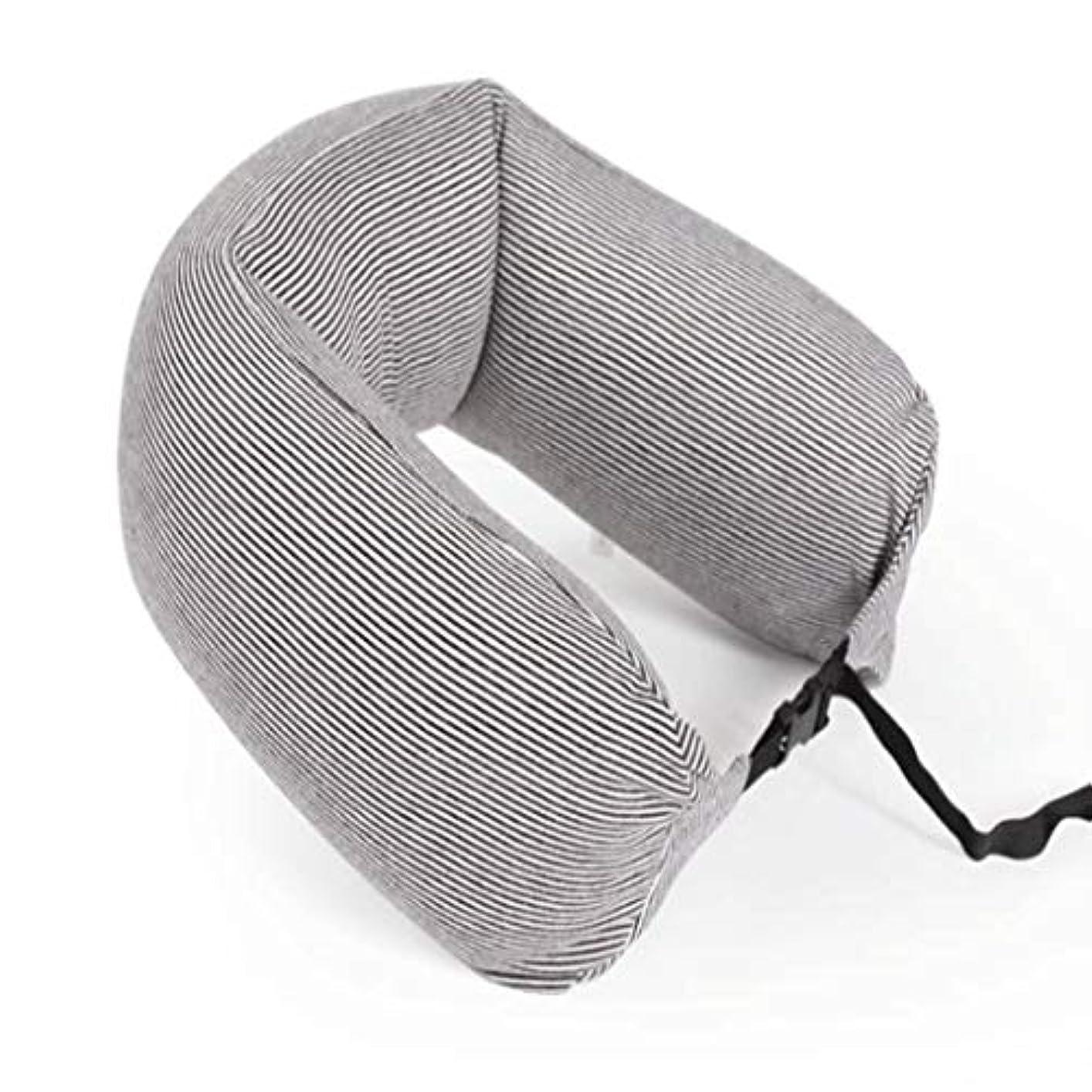 深く義務無実ストライプU字型保護首枕和風シンプルバン屋外ポータブルシエスタオフィス旅行キャンプ