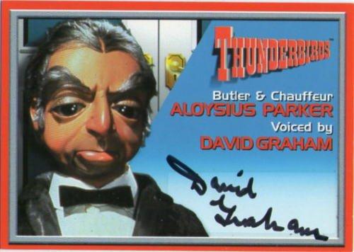 海外ドラマ『サンダーバード』パーカー声優、デヴィッド・グラハム直筆サイン入りトレーディングカード