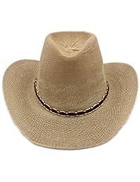 釣りハット/カウボーイハットM / Increase theつばビーチハット/サンスクリーンサンハットメス/ Old Straw Hat