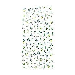 【MT103】グリーンリーフネイルシール リーフ 葉 ジェルネイル シール 緑 植物 ボタニカル