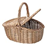 ウィッカー バスケット ふた付き バスケット ピクニック バスケット TN-005