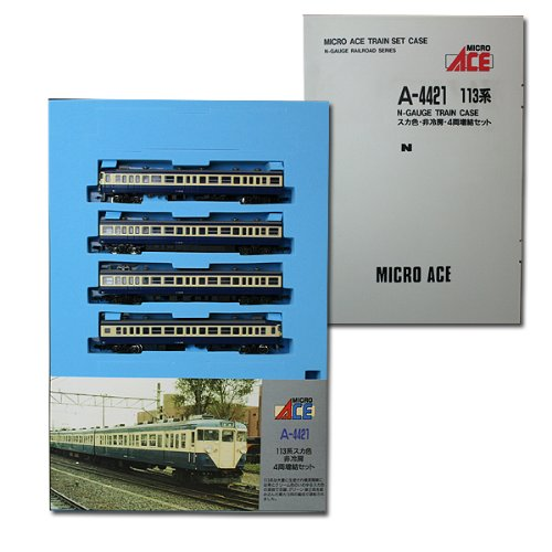 Nゲージ A4421 113系近郊形電車・スカ色 (非冷房) 4両セットM付