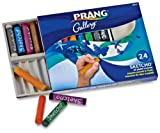 Prang Sketcho Oil Crayons, Round Sticks, 2.5 x 0.5 Inches, Box of 24 Crayons, 24 Assorted Colors (11
