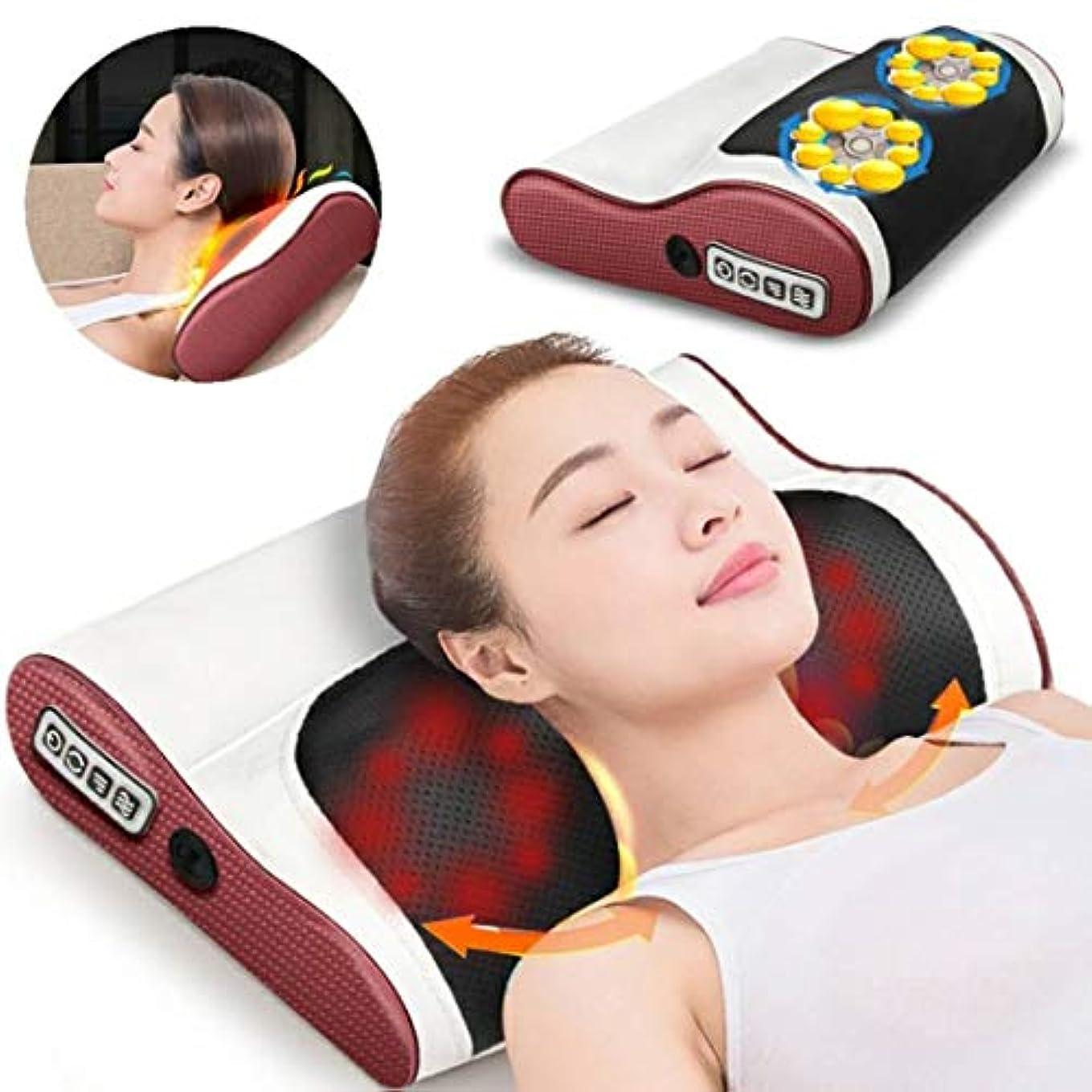 頚部マッサージ枕、フルボディ電動マッサージャー多機能家庭用クッションマッサージャーバックネックマッサージピロークッション用ショルダーバックボディ