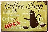 喫茶店 金属スズヴィンテージ安全標識警告サインディスプレイボードスズサインポスター看板建設現場通りの学校のバーに適した