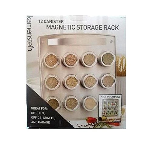 RoomClip商品情報 - Kamenstein 12 Canister Magnetic Storage Rack Wall Mountable For Kitchen, Office, Crafts & Garage [並行輸入品]
