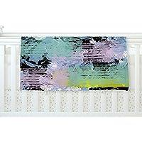 KESS InHouse Vasare Nar Watercolor Texture Multicolor Lavendar Fleece Baby Blanket 40 x 30 [並行輸入品]