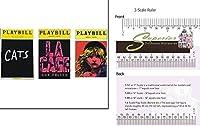 ドールハウスミニチュアModern Playbills / Set / 3