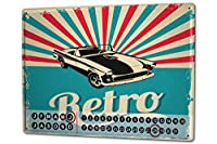 カレンダー Perpetual Calendar Garage Retro old car Tin Metal Magnetic Gas Stations Vintage