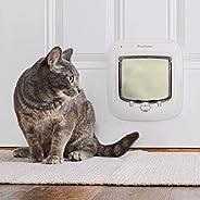 PetSafe Interior and Exterior Cat Door – Microchip RFID Pet Door – 4-Way Locking – Works With up to 40 Program