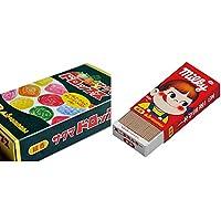 【セット買い】サクマドロップス ミニ寸線香 (故人の好物シリーズ) 約10g×4種 & ミルキーの香りのミニ寸線香
