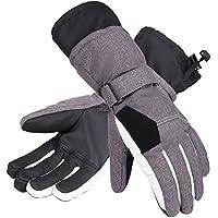 Andorra Women's Two-Tone Geometric Touchscreen Ski Glove