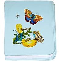CafePress – Maria Sibylla Merian植物 – スーパーソフトベビー毛布、新生児おくるみ ブルー 075776524625CD2