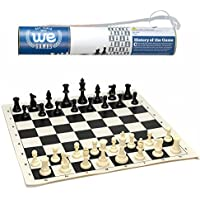 WE Games Roll-up Travel Chess Set in Carry Tube with Shoulder Strap - A Great Beginner Chess Set [並行輸入品]