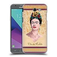 Official Frida Kahlo イエロー ポートレイト ハードバックケース Samsung Galaxy J3 Emerge