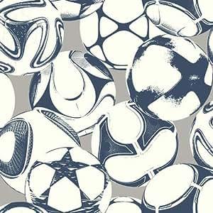 壁紙 York Wallcoverings Young at Heart ボールの柄 ネイビー グレー LK8232 輸入壁紙