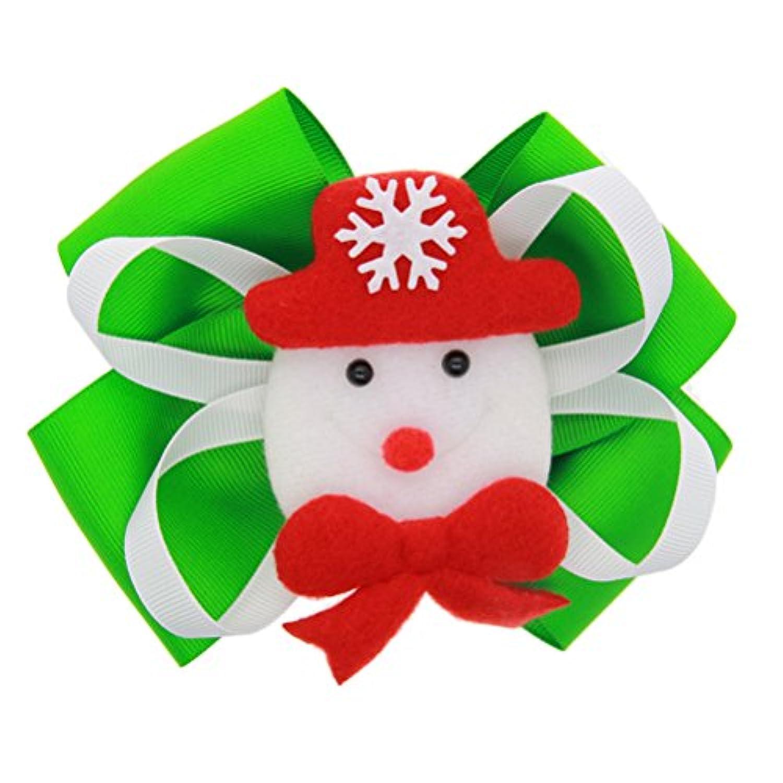 Zhhlaixing ベビー小物 Kids Baby Girls Hair Clips Headdress Christmas Ribbon Bowknot Hairpin Hair Accessories