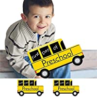 Preschool - FIRST and LAST Day of School Bus Signs - Back To School Photo Prop [並行輸入品]