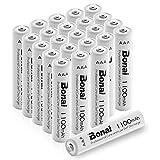 BONAI 単4形 充電池 充電式ニッケル水素電池 24個パック PSE/CEマーキング取得 UL認証済み 自然放電抑制 液漏れ防止設計 環境友好タイプ(高容量1100mAh 約1200回使用可能)