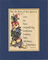 But the fruit of the Spirit Is。。。8x 10インチBiblical / Religious VersesダブルBeveled–不朽のマットにセットPriceless、詩記念品コレクション 8  x 10  Inch