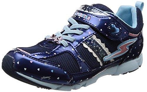 [スーパースター] 運動靴 通学履き バネのチカラ パワーバネ バネ 軽量 カップインソール SS J795 ネイビー 22 cm 2E