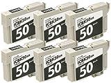 IC50 ブラック6本 汎用 互換 インク カートリッジ エプソン対応