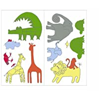 Southern Living Zootopia Stick Ups, Green/White (Discontinued by Manufacturer) [並行輸入品]