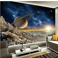 Mingld カスタム任意サイズ壁画壁紙3Dステレオ惑星ムーン壁画レストランクラブKtvバー現代の装飾壁紙-350X250Cm