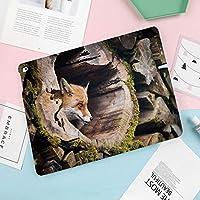 新型iPadケース スマートカバー アイパッドケース タブレットカバー プロ10.5 iPad Pro 10.5 オートスリープ機能 スタンド付き ダイアリー 手帳型 ブ(モデル番号:A1701,A1709)木の丸太穴の中の真のキツネVulpesエキゾチックな毛皮のような生き物野生生物の生き物のデザイン