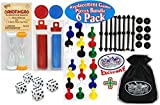 """Universal Game Pieces Replacement Set with Exclusive """"Matty's Toy Stop"""" Cinch Storage Bag - 6 Pack [並行輸入品]"""