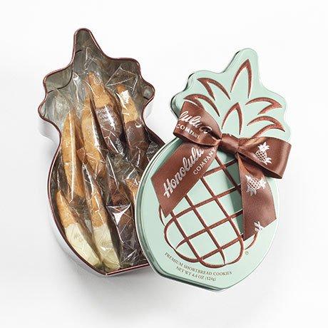 【ホノルルクッキー】 ホノルルクッキーカンパニー パイナップル ギフト缶 9枚入 3個セット 並行輸入品