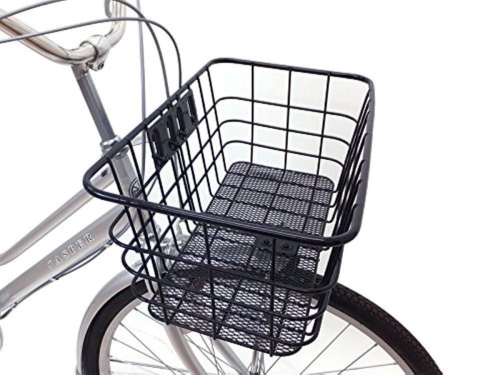 リーガン加速度使用法自転車 フロント 幅約51cm スーパージャンボバスケット フロントカゴ 前専用 ブラック