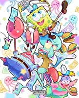 Notebook: Cute SpongeBob SquarePants Patrick Star Squidward Tentacles Eugene H. Krabs Gary the Snail Cartoon Funny Writing Taking Notes Soft Glossy Cover College Ruled Lined Pages Book 7.5 x 9.25 Inches 110 Pages