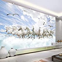 Weaeo プリンスチャーミングな3Dファッション三次元の風景テレビの壁の壁のカスタム大きなフレスコ画の壁紙-350X250Cm