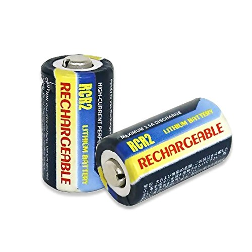 【充電式】【2個セット】[繰り返し] CR-2/CR2 互換 リチウム 充電池 3V 【ロワジャパンPSEマーク付】