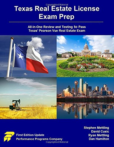 Download Texas Real Estate License Exam Prep: All-In-One Review and Testing to Pass Texas' Pearson Vue Real Estate Exam 0692691030