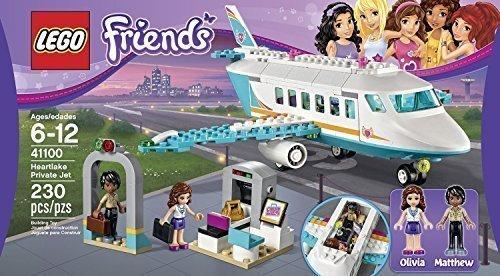 建物ブロックHeartlakeプライベートジェットLego Friends Toy for Kids ( 230pcsフィギュアおもちゃ