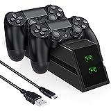 【最新型】PS4 Slim/PS4 Pro/ PS4 充電スタンド PS4コントローラー 充電スタンド 急速 充電器 WITTIMES 2時間で満充電 2台同時充電可能 LED指示ランプ付き