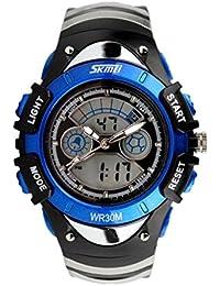 レンコス(Lemcos) スポーツ腕時計 キッズ男の子女の子 アナログ デジタル Led 週アラーム クロノグラフ手首腕時計