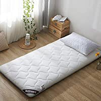 厚く 畳 マットレス, キルト 可逆 柔らか\ソフト 快適さ 折りたたみ 通気性 床マット 布団 パッド ベッド ロール-A 90x190x6cm