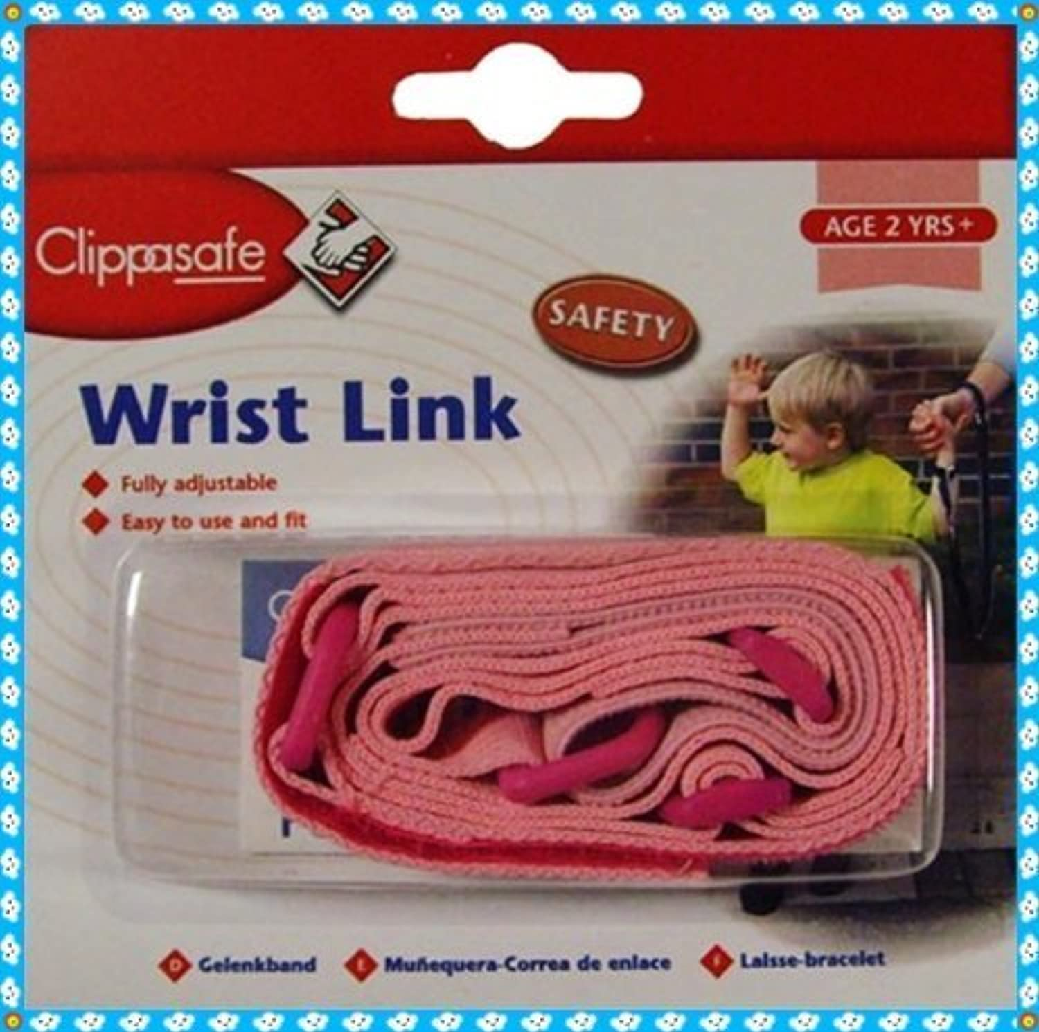 CLIPPASAFE WRIST LINK IN PINK COLOUR by Clippasafe
