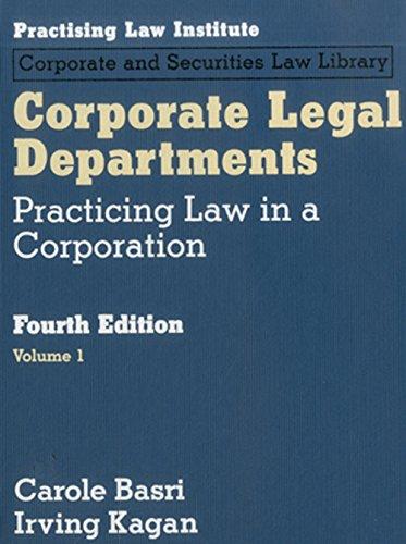 Download Corporate Legal Depts 140241692X