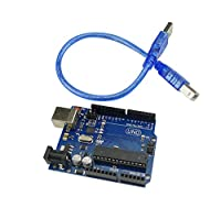 KKHMF UNO R3 ATmega328P ATMEGA16U2開発ボード UNO R3 Arduino互換