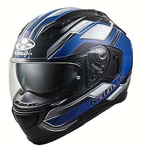 オージーケーカブト(OGK KABUTO)バイクヘルメット フルフェイス KAMUI3 ACCEL(アクセル) フラットブラックブルー (サイズ:S) 585877