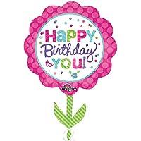 Anagram Supershape - Pink & Teal Happy Birthday