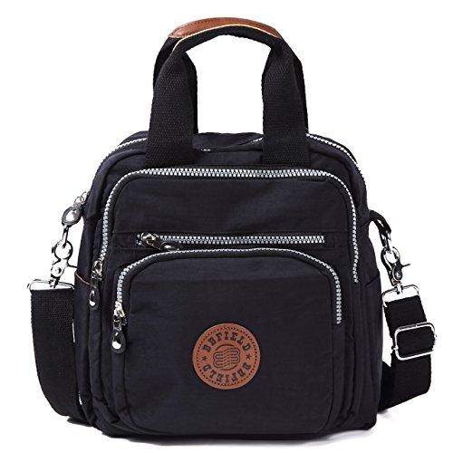 [해외]숄더백 3WAY 미니 가방 기울기 벼랑 핸드백 지갑 파우치 (블랙)/Shoulder bag 3WAY mini bag diagonal handbag long purse pouch (black)